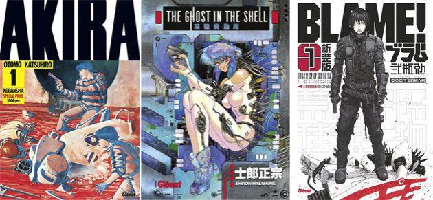 Couvertures des nouvelles éditions de mangas SF cultes chez