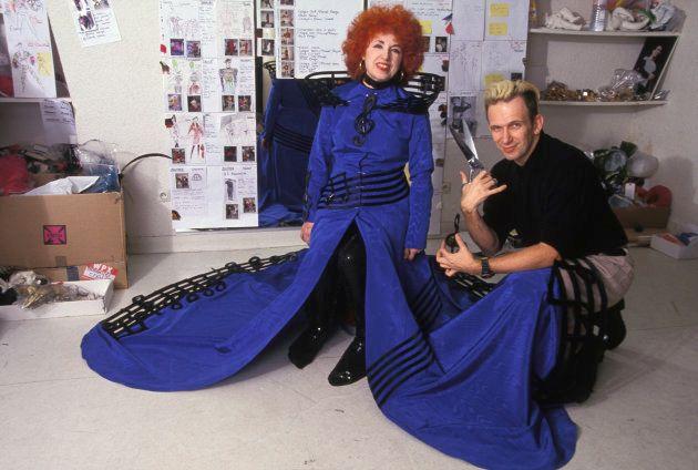 Yvette Horner habillée par Jean Paul Gaultier en décembre