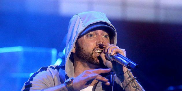 Eminem lors du festival Bonnaroo à Manchester (Tennessee) aux Etats-Unis le 9 juin