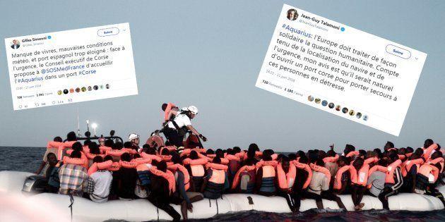 Aquarius: la Corse propose d'ouvrir un port aux migrants, quelques minutes avant le début du processus...