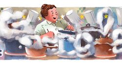Google célèbre la première cheffe à avoir eu deux fois trois