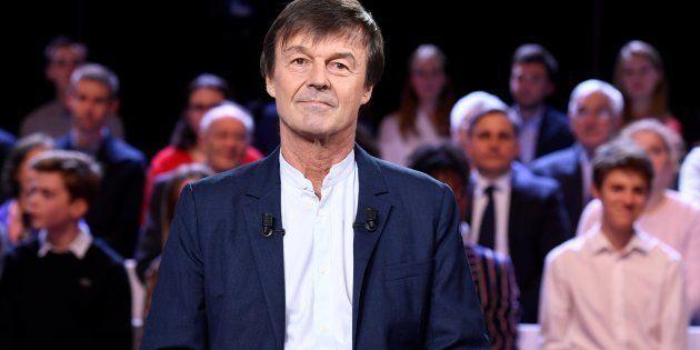 Nicolas Hulot sur le plateau de l'Emission politique, le 22 novembre