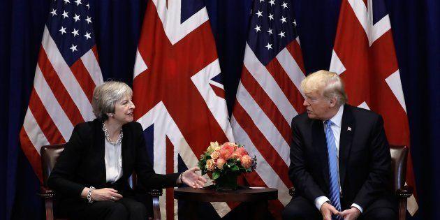 Theresa May et Donald Trump, le 26 septembre 2018 à
