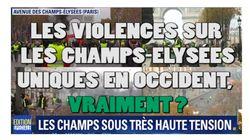 Pour BFMTV, les violences sur les Champs-Elysées étaient uniques en occident.
