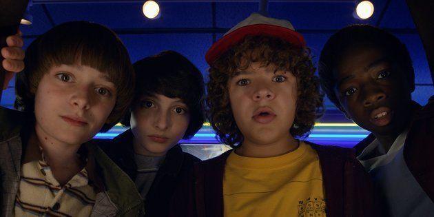 Will, Mike, Dustin et Lucas les héros de la série