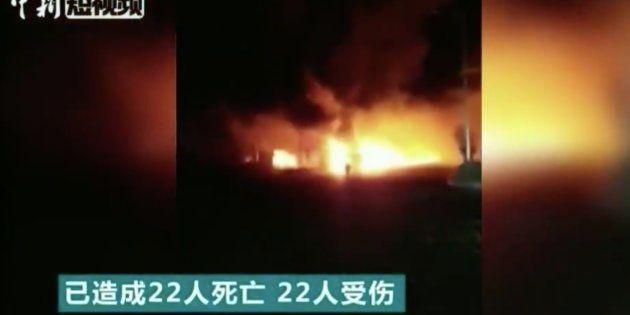 Explosion à Zhangjiakou en