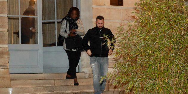 Eric Drouet et Priscillia Ludosky, sortant de la réunion avec François de Rugy mardi 27 novembre