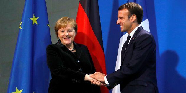 Emmanuel Macron et Angela Merkel lors de leur rencontre à Berlin le 18 novembre (photo