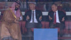 Cette photo de Poutine et du Prince hériter d'Arabie saoudite au stade vaut le