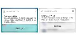 Panique à Hawaï après une fausse alerte au missile