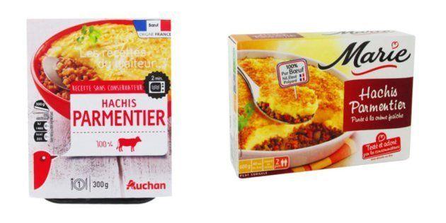La quantité de viande dans les hachis parmentier vendus en grande surface ne dépend ni de la marque,...