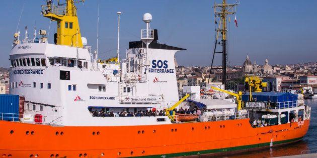 L'Aquarius au port de Catane en Italie le 10 mai