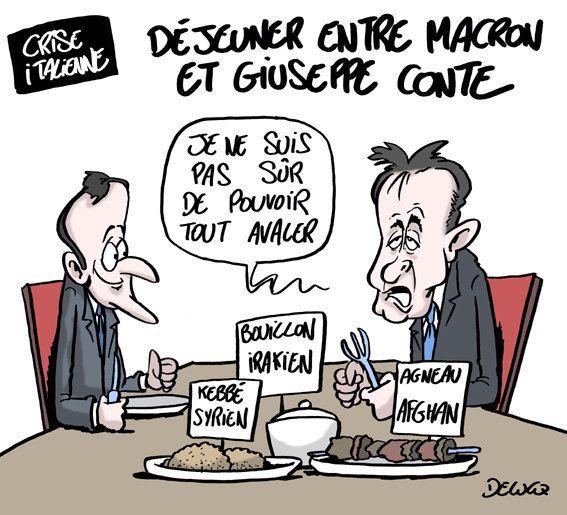 Ce qu'Emmanuel Macron a mis au menu de son déjeuner avec Giuseppe