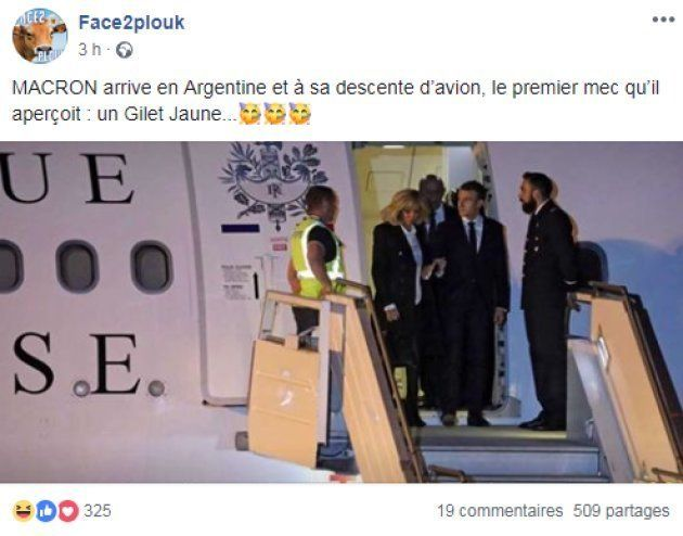 Macron accueilli par un