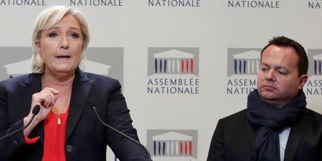 Marine Le Pen et Bruno Bilde à l'Assemblée nationale le 3