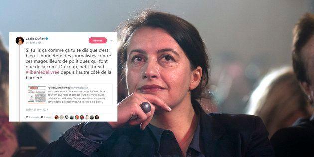 Pour Cécile Duflot, cette décision de La Voix du Nord peut conduire à