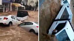 Des pluies diluviennes emportent les voitures dans les rues de Bodrum, en