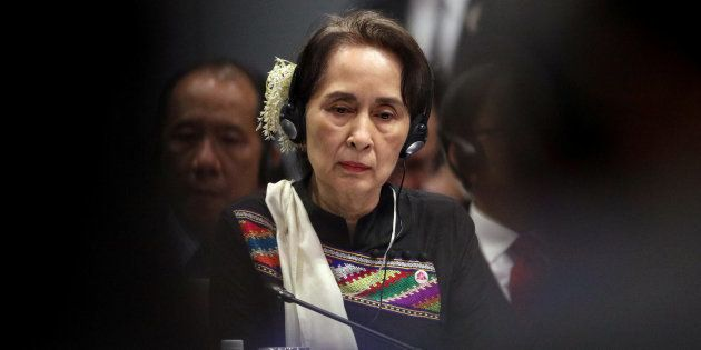 Aung San Suu Kyi lors d'un sommet à Singapour, le 15 novembre