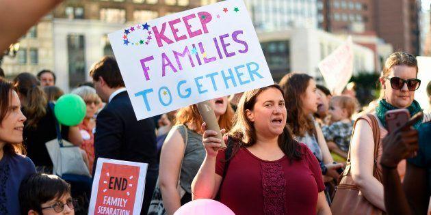 Une manifestation contre la séparation des familles de migrants à New York le 14 juin