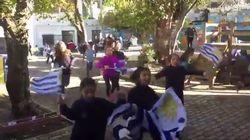 Ces élèves ont fêté la victoire de L'Uruguay face à l'Egypte comme si c'était la