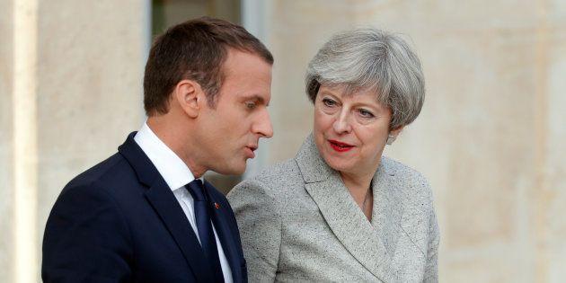 Emmanuel Macron et Theresa May à l'Élysée, en