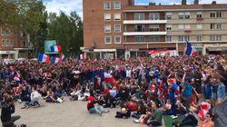 Pour le premier match des Bleus, les supporters ont célébré les buts aux quatre coins du