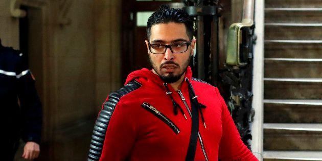 Jawad Bendaoud, ici le 22 novembre, a causé un nouvel incident d'audience ce