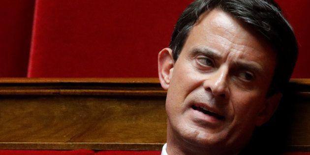 L'ex-premier ministre Manuel Valls à l'Assemblée nationale le 2