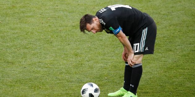 Argentine - Islande: Messi (en photo) rate son entrée dans la Coupe du Monde 2018 en loupant un