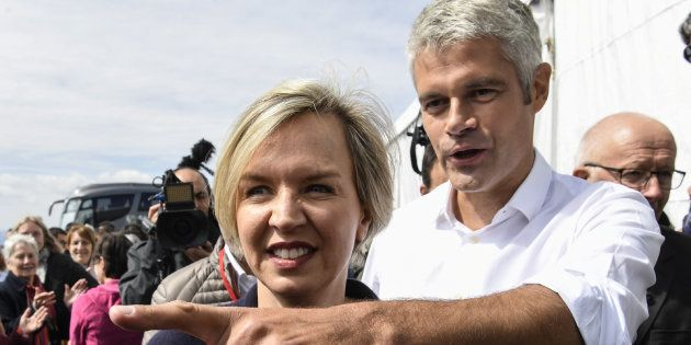 Laurent Wauquiez et Virginie Calmles aux Etables le 3 septembre