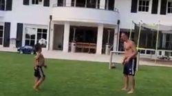 Le fils de Ribéry n'a rien à envier à son père ballon au