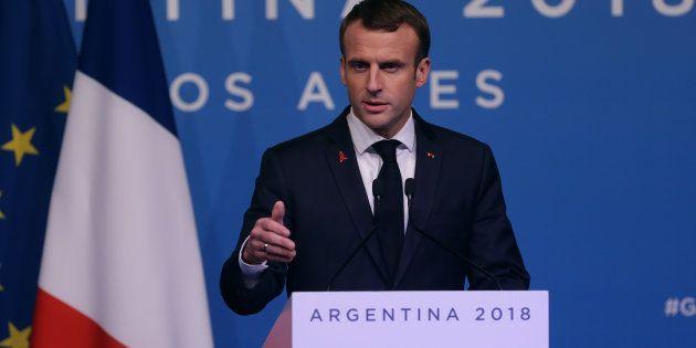 Le président de la République Emmanuel Macron au G20 en