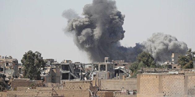 En Syrie, la coalition dirigée par les Etats-Unis frappe des positions du régime de Bachar al-Assad (photo