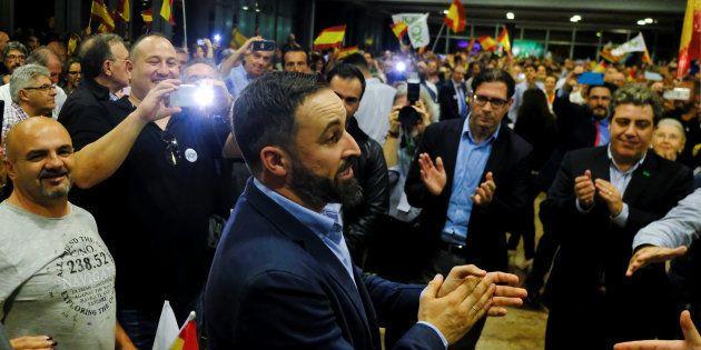 Santiago Abascal, leader de Vox, parti d'extrême droite