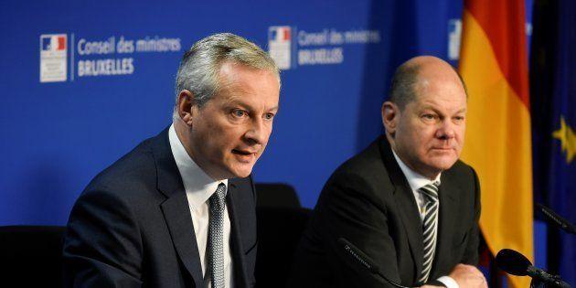 Olaf Scholz et Bruno Le Maire à Bruxelles au mois de