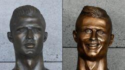 Le buste peu flatteur de Ronaldo à l'aéroport de Madère a été remplacé en