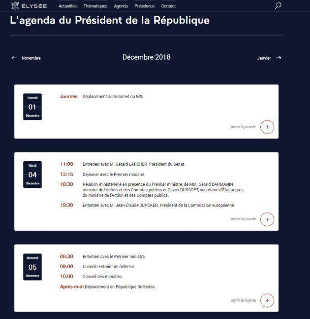 L'agenda d'Emmanuel Macron, ce lundi 3 décembre 2018, en pleine crise des gilets