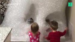 Ce bain moussant géant donne envie de se jeter