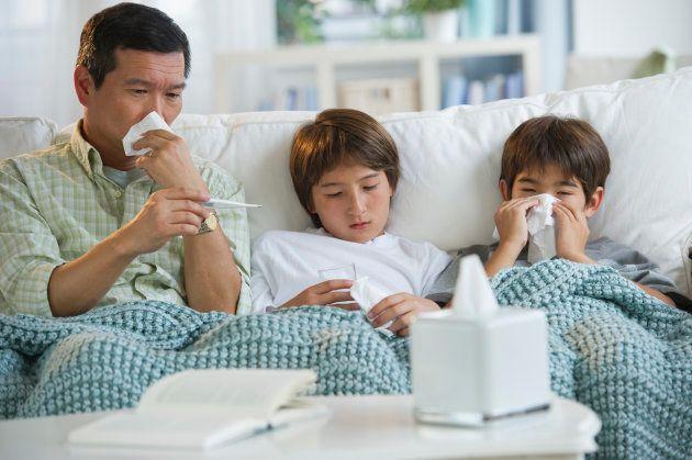 Vous pouvez dire merci à vos enfants pour ce rhume!