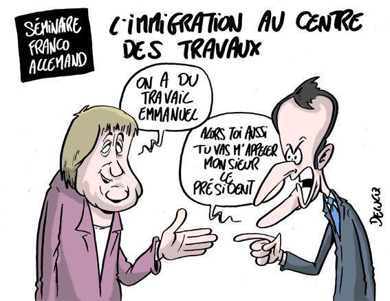 Entre Angela Merkel et Emmanuel Macron, le ton est