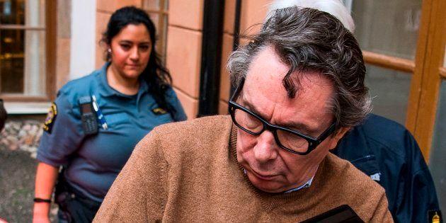 Jean-Claude Arnault à Stockholm au premier jour de son procès en appel le 12 novembre
