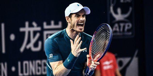 Andy Murray lors du tournois de tennis de Shenzhen, en Chine, le 28 septembre