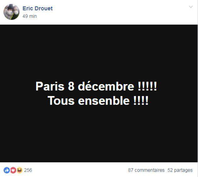 Éric Drouet appelle à une nouvelle manifestation à