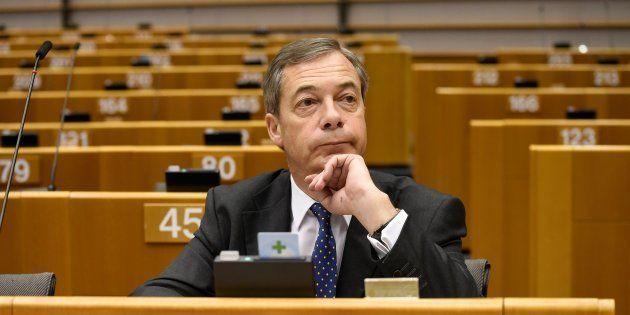 Nigel Farage au Parlement européen à Bruxelles le 29 novembre