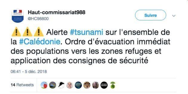 Ordre d'évacuation diffusé par le Haut
