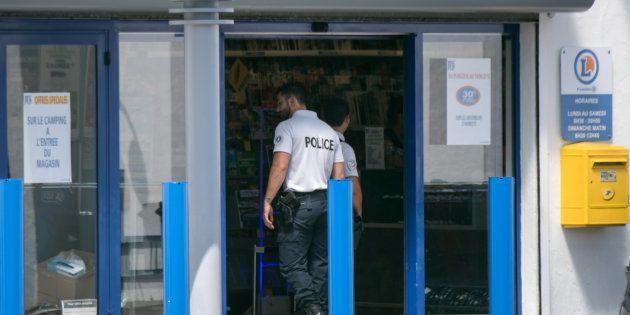 Le magasin Leclerc dans lequel une jeune femme a attaqué deux personnes avec un cutter, le 17 juin à...