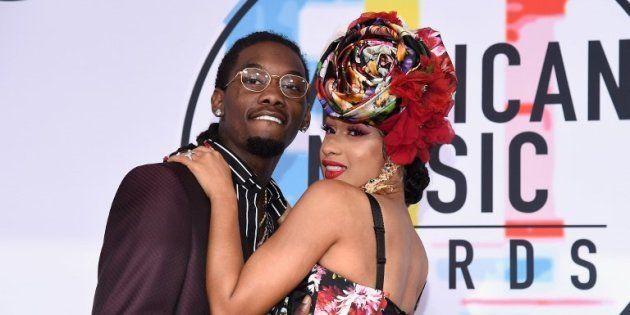 Offset et Cardi B lors de la 46ème cérémonie des American Music Awards, le 9 octobre 2018 à Los