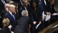 Aux obsèques de son père, George W. Bush a respecté son rituel avec Michelle