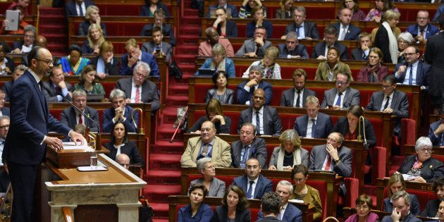 Édouard Philippe lors de son discours à l'Assemblée nationale le 5 décembre