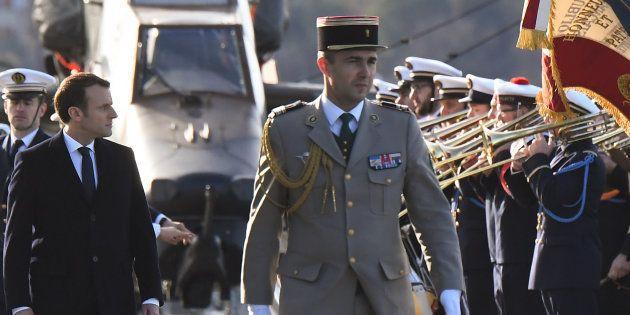 Le président de la République était sur le Dixmude, à Toulon, pour présenter ses vœux aux